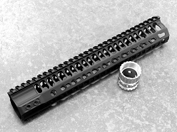 2A Armament 12 Inch Black KeyMod Balios Lite Handguard With Titanium Barrel Nut For AR15 Style 5.56/.223 Rifles