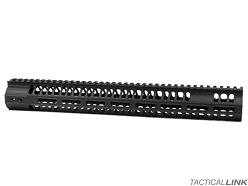 2A Armament 15 Inch Black MLOK Balios Lite Handguard With Titanium Barrel Nut For AR15 Style 5.56/.223 Rifles
