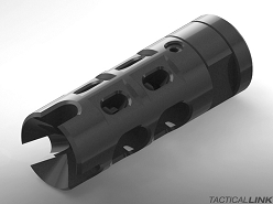 Armageddon Tactical CompTek Type 1 Muzzle Brake & Compensator For AR15 Style 5.56/.223 Rifles - Black Melonite QPQ Finish