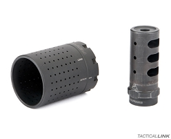 Ferfrans CQB Modular Muzzle Brake and Compensator System + Concussive Reduction Device For AR15 Style 5.56/.223 Rifles