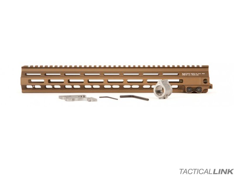 Geissele MK8 15 Inch Super Modular Rail MLOK Free Float Handguard For AR15 Style 5.56/.223 Rifles - Desert Dirt Color