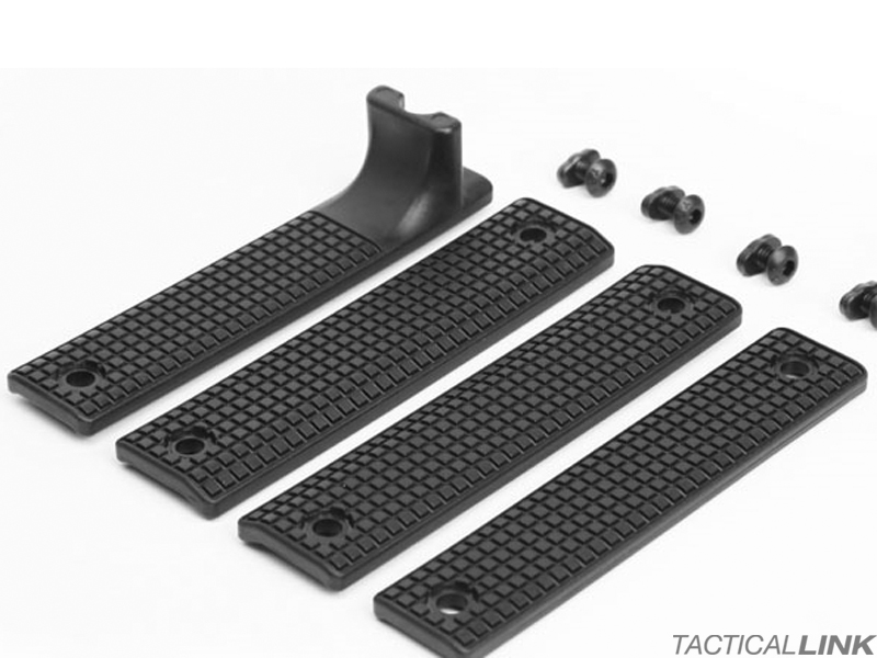 Griffin Armament Rail Shield 4 Piece MLOK Furniture Set - Black