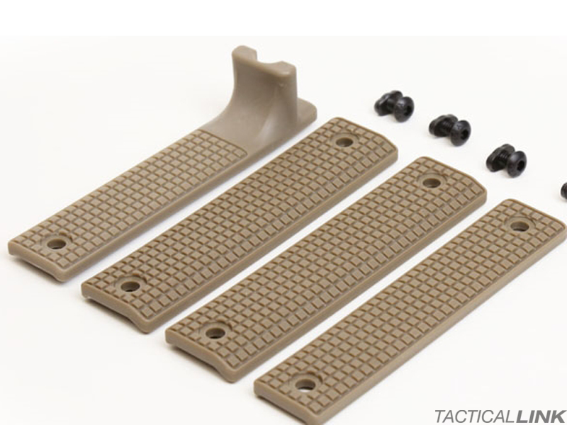 Griffin Armament Rail Shield 4 Piece MLOK Furniture Set - Flat Dark Earth