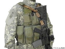 Tactical Link Infidel Bungee Single Point QD Vest Integrated Tactical Sling For AR15 Style Rifles