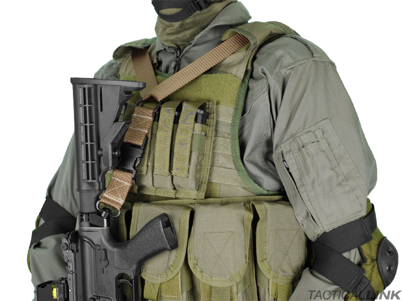 Tactical Link Infidel Single Point QD Vest Integrated Tactical Sling For AR15 Style Rifles