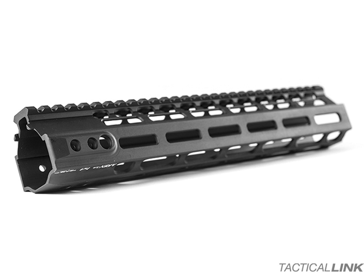 Kinetic Development Group Black MLOK MREX Rail Free Float Handguard For AR Style 5.56/.223 Rifles - 12 Inch