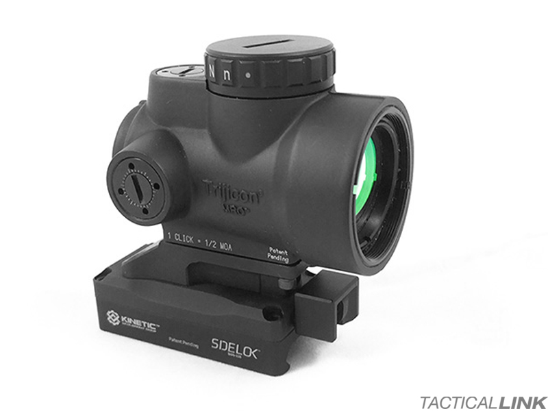 Kinetic Development Group SIDELOK Optic Mount For The Trijicon MRO - Lower Third Co Witness