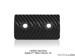 Lantac Rail Panels (Pack Of 3) For The SPADA Ultra Slim Modular Handguard Rail System - Black