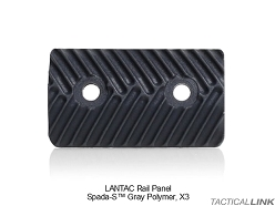 Lantac Rail Panels (Pack Of 3) For The SPADA Ultra Slim Modular Handguard Rail System - Gray