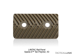 Lantac Rail Panels (Pack Of 3) For The SPADA Ultra Slim Modular Handguard Rail System - Flat Dark Earth