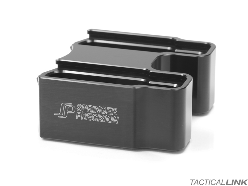 Springer Precision +5 EZ Double Base Pad Magazine Extension For Hexmag Magazines