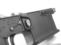 V7 Weapon Systems Titanium Magazine Catch / Release Assembly For AR15 Style 5.56/.223 Rifles - Raw Titanium Finish
