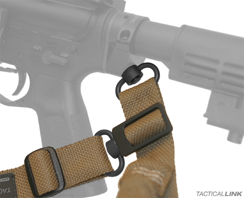 Convertible Sling attaching to rear of weapon