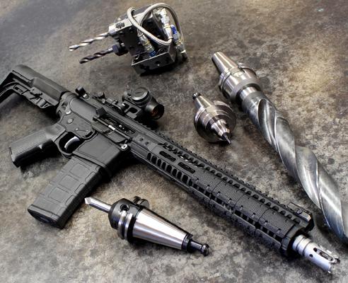 2A Armament 12 Inch Black KeyMod Balios Lite Handguard With Titanium Barrel  Nut For AR15 Style 5 56/ 223 Rifles
