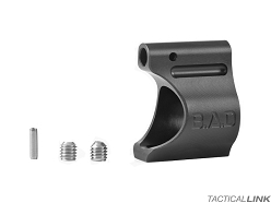 Battle Arms Development Lightweight Low Profile Non Adjustable Titanium .625 Inch Gas Block With Black Ion Bond PVD Finish For AR15 Style Rifles - Set Screw