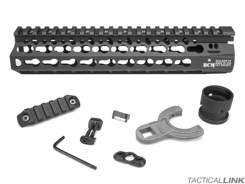 Bcm 9 Inch Keymod Kmr Alpha Rail Handguard For Ar15 Style Rifles