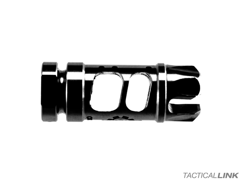 Cross Machine Tool Combat Recoil Compensator For AR15 Style 5 56/ 223  Rifles - Black QPQ Nitride Finish