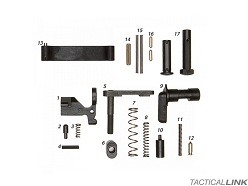 Geissele Automatics Mil Spec Lower Parts Kit For AR15 Style 5.56/.223 Rifles - No Trigger Or Grip