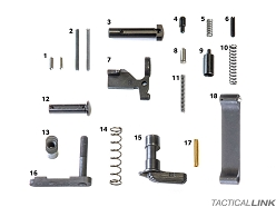 Geissele Automatics Standard AR15 Milspec Lower Parts Kit - No Grip