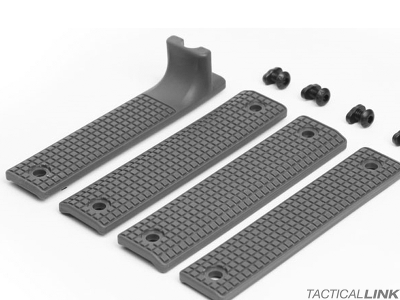 Griffin Armament Rail Shield 4 Piece MLOK Furniture Set - Grey