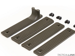 Griffin Armament Rail Shield 4 Piece MLOK Furniture Set - OD Green