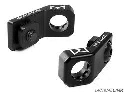 Griffin Armament Lightweight 45 Degree MLOK QD Sling Mount With Rotation Limiter - Black