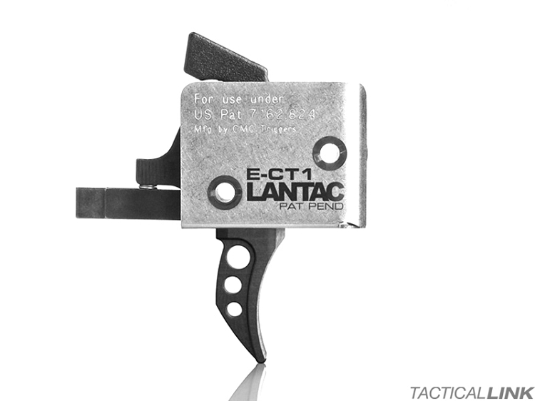 CMC/Lantac ECT1 Single Stage Trigger For AR15 & AR10 Rifles - Curved Bow