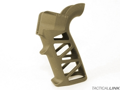 Naroh Arms Skeletonized GRAL-S Billet Aluminum Grip For AR Style Rifles - Flat Dark Earth