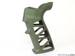 Naroh Arms Skeletonized GRAL-S Billet Aluminum Grip For AR Style Rifles - OD Green