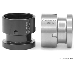 V7 Weapon Systems Titanium Barrel Nut For The BCM Alpha KeyMod Rail & BCM Gunfighter KMR Rail