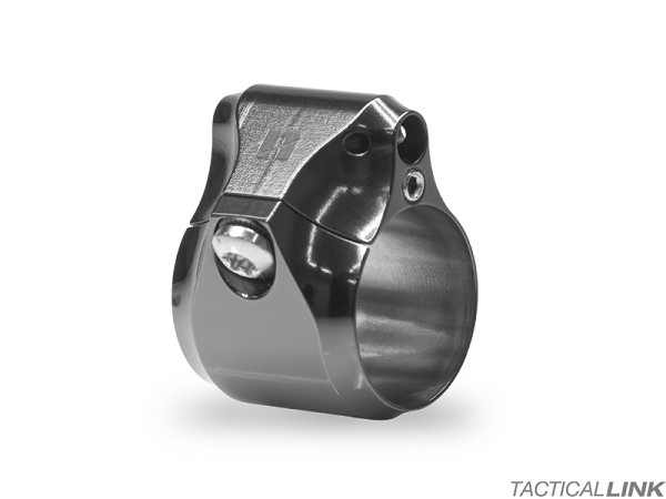 Next Intent Tactical Adjustable Titanium .750 Inch Gas Block - Black DLC