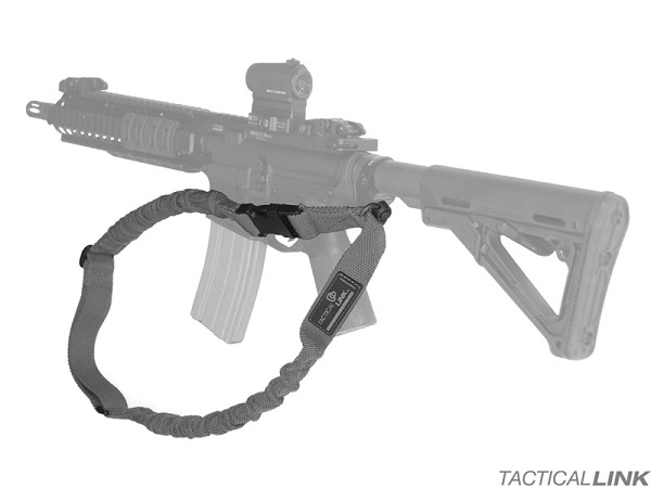 Tactical Link Stealth Bungee Single Point QD Tactical Sling For AR15 Style Rifles